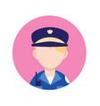 policeman professional person flat design icon vector image