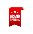 red ribbon grand opening on white background vector image