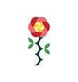 rose flower clip art element vector image vector image