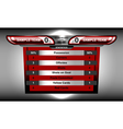 scoreboard soccer design vector image vector image