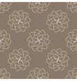 Seamless pattern of beige leaves or hearts vector image vector image