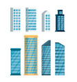 set buildings cityscape icons vector image