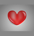 shiny heart isolated on transparent background vector image vector image