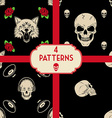 skulls patterns set vector image vector image