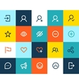 Social and communication icons Flat