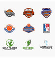 sports logo badges 5 vector image vector image