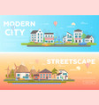 streetscape - set of modern flat vector image vector image