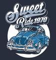 sweet ride vector image vector image