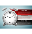 Time management infographics icon isolated on blue vector image vector image