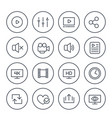 video player line icons vector image vector image