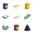 Waste for recycling icons set vector image