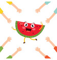 watermelon character vector image vector image