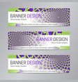 web header design purple green banner template vector image