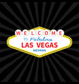 welcome to las vegas sign icon classic retro vector image vector image