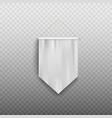 white medieval banner flag isolated realistic vector image vector image