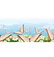 horizontal seamless butterflies pattern vector image