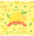 Lemonade Seamless Pattern vector image