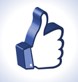 3d Thumb Up vector image vector image