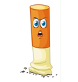 a cigarette with face vector image
