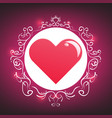 Abstract hearts vintage for valentines day vector image