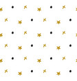 abstract seamless pattern with gold stars and vector image