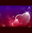 abstract valentine background with glassy hearts vector image vector image