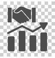 Acquisition Hands Graph Trend Icon vector image vector image