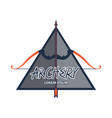 archery logo with text space for your slogan vector image vector image