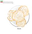 Bamiyeh or Iranian Doughnut vector image vector image
