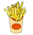 Basket of chips vector image vector image