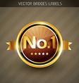 best quality golden label vector image vector image
