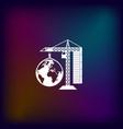 building construction crane icon vector image vector image