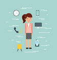 businesswoman briefcase vector image
