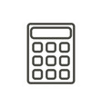 calculator icon line mathematics symbol vector image