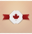 Canada red Maple Leaf on realistic Tag vector image vector image