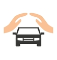 car insurance business icon vector image vector image