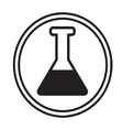 chemical glassware symbol icon vector image