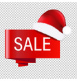 christmas banner with santa claus cap vector image