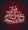 christmas quote made in decorative circle vector image vector image