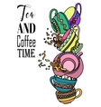 Coffee and Tea cups set eps10 vector image