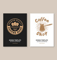 coffee logo for logo badge template vector image