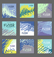 Collection of abstract postcards blue tones for vector image vector image