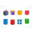 color gift boxes clipart isolated on white vector image