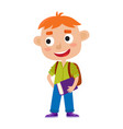 color of pretty red-haired boy vector image vector image
