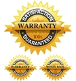 Customer satisfaction guaranteed gold badge vector image vector image