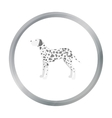 Dalmatian icon in cartoon style for web vector image vector image