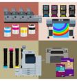 Digital print machines vector image vector image