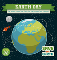 Earth day holiday poster vector image vector image