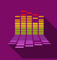 equalizer icon flat style vector image vector image