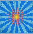 explode flash cartoon explosion space burst vector image vector image
